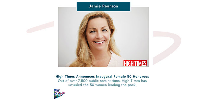 Jamie Pearson Gives Acceptance Speech for High Times Female 50 Award